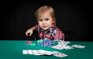 Portrait of poker player lost